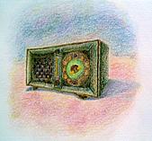 我的色鉛筆畫~中級班:復古收音機