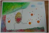 2012彩色墨水自由渲染畫~學生作品分享:想飛的幸福