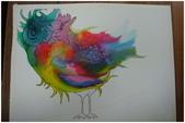 2012彩色墨水自由渲染畫~學生作品分享:宇宙人