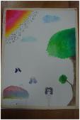 2012彩色墨水自由渲染畫~學生作品分享:長腳美少女