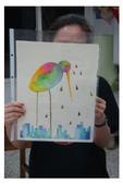 2012彩色墨水自由渲染畫~學生作品分享:家郁