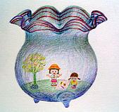 我的色鉛筆畫~中級班:透明的玻璃魚缸