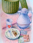 我的色鉛筆畫~中級班:來下午茶吧~