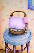 我的色鉛筆畫~進修班:可愛竹籃裡裝什麼呢?