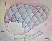 趣味蠟筆畫:心裡的房間~溫暖的心