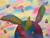 趣味蠟筆畫:兔子和我~家