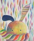 趣味蠟筆畫:兔子和我~不會飛的夢