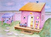 我的色鉛筆畫~進修班:溫馨的小空間