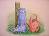 我的色鉛筆畫~初級班:園丁的工具