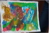2012彩色墨水自由渲染畫~學生作品分享:能量