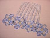 我的色鉛筆畫~初級班:我的法式髮飾
