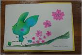 2012彩色墨水自由渲染畫~學生作品分享:開心的兔子