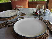 2009前進峇里島第三天:餐具很有質感,比較高檔一點的餐廳