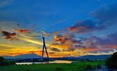 颱風尼莎前的社子橋: