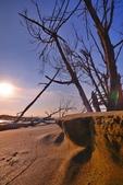 七股海邊夕陽: