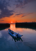 黃昏的漁港: