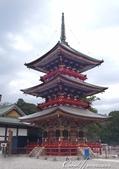 紅葉飄飄15日東京自由行--成田山新勝寺:30●1712年間建造的重要文化財──三重塔,總高25m,位在入口處的右邊.JPG