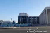 2018印象翻轉的俄羅斯奇幻之旅(2-6)--俄式牧場創意料理的新風味:03●窗外經過這棟進行工事中的建物,是1862年成立的國家圖書館,1925年曾被命名為「蘇聯列寧國立圖書館」,直到1992年