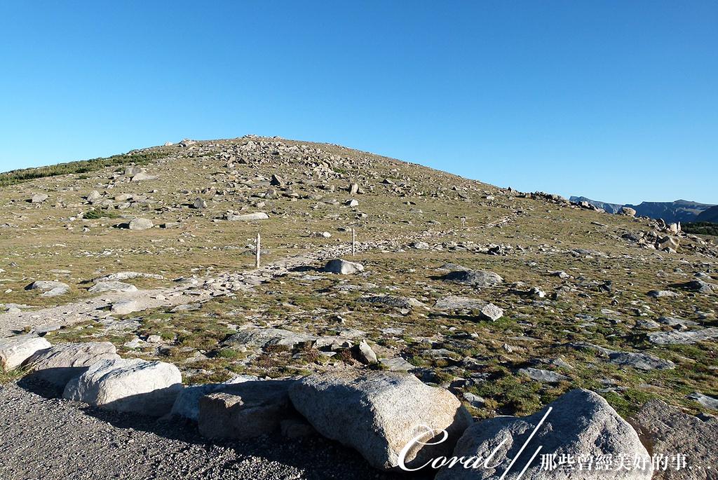 2019自駕隨性之旅(13)--100個死前必去景點之告別黃石國家公園後的苔原生態步道:05●儘管兩條步道風格稍有差異,相同地質的景觀還是一樣的,突出、裸露的岩石,和擁有堅韌生命力的地衣、小草與野
