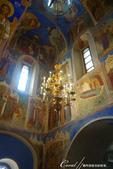 2018印象翻轉的俄羅斯奇幻之旅(5-1)--救世主變容大教堂在當地是保留16世紀宗教繪畫的寶庫:●窗戶透進的微光讓室內的氣氛更瑰麗.JPG