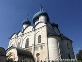 2018印象翻轉的俄羅斯奇幻之旅(5-5)--曾為蘇茲達爾靈魂之地的克里姆林宮:01●克里姆林宮內的聖母誕生大教堂,閃耀著金黃色星星的藍色圓屋頂,是一座獻給聖母的教堂代表作.JPG