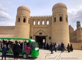 2019Amazing!穿越古絲路上的中亞五國之旅(9-3)--烏茲別克斯坦之希瓦內城:04●如同大部份遊客,我們從位在 Ichan-Kala西面的正門 Ata-Darwaza 進入內城。這座建於1842年的城門曾於1920年被毀,並在1975
