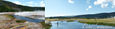 2019自駕隨性之旅(05)--100個死前必去景點之黃石國家公園(中間歇泉噴地、大稜鏡溫泉篇):24●流經黃石國家公園中幾個重要間歇泉盆地的火洞河 Firehole River,有著優雅延伸的水域,還有豐富的野生鱒魚種群,是
