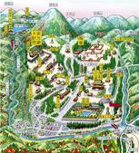 紅葉飄飄15日東京自由行--日光二荒山神社:●翻看行前我下載好的地圖,基本上,日光主打的世界遺產巡遊的主要景點都很相近.png