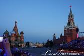 2018印象翻轉的俄羅斯奇幻之旅(3-7)--宛如嘉年華會的莫斯科國際軍樂節 Moscow inte:01●沒想到,在進入國際軍樂節的會場後,才得以用這樣的角度拍到聖巴索教堂與救世主塔樓的同框畫面.JPG