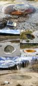 2019自駕隨性之旅(05)--100個死前必去景點之黃石國家公園(上間歇泉噴地、城堡噴泉篇):03●無論是平靜沉默的、或是活躍湧動的,每一個池子都有不同的深度、面積和組合成份,平和地在這片大地上展現不同