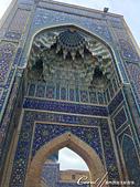 2019Amazing!穿越古絲路上的中亞五國之旅(14-2)--烏茲別克斯坦之三座重要的陵墓:11●藍色釉面磚的馬賽克裝飾著建築物的壁面,繁複的結構與絢麗的視覺效果,呈現的不止是藝術,也同時是非常科學的