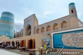2019Amazing!穿越古絲路上的中亞五國之旅(9-3)--烏茲別克斯坦之希瓦內城:07●一入城門,又可看見一面由伊斯蘭傳統配色的磁磚所拼貼的內城地圖.JPG
