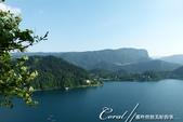 2018不思議之克、斯、義秘境歐遊記(6~4)--閃耀綠寶石光芒的布雷得湖 Lake Bled 與高:47●自布雷得城堡俯瞰著美麗的布雷得湖.JPG
