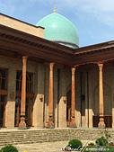 2019Amazing!穿越古絲路上的中亞五國之旅(15-1)--烏茲別克斯坦之哈斯特伊瑪目廣場:09●還有傳統藍色磁磚裝飾的圓頂.JPG