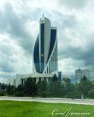 2019Amazing!穿越古絲路上的中亞五國之旅(11-1)--土庫曼斯坦首都──阿什哈巴德:11●前衛摩登的衛生部大樓.JPG