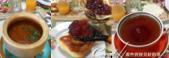 2018印象翻轉的俄羅斯奇幻之旅(5-6)--品嚐在地風味餐與漫步蘇茲達爾夕陽下:05●圖中的果醬也是女主人親手做的蘋果醬,其中還添加了導遊不知道怎麼解釋的紅色莓果,這道新鮮的果醬無論搭配黑