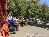 2018印象翻轉的俄羅斯奇幻之旅(5-2)--悠哉悠哉!蘇茲達爾快意馬車行:02●華麗的、敞篷的、工業風的、像南瓜的,數種馬車爭相競豔等候遊客搭乘,瞬間讓路邊熱鬧了起來 (2).JPG