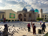 2019Amazing!穿越古絲路上的中亞五國之旅(8-3)--塔吉克斯坦之謝赫‧穆斯里希丁陵墓:13●有著非常亮眼的綠松石顏色的玻璃屋頂是幢新建的經學院.JPG