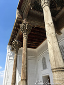 2019Amazing!穿越古絲路上的中亞五國之旅(13-4)--烏茲別克斯坦之布哈拉亞克要塞:13●美麗的雕刻柱頭是這座清真寺的特色.JPG