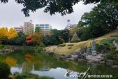 紅葉飄飄15日東京自由行--清澄庭園:20●廣闊的池塘內分佈有三座小島、再加之茶室式的典雅建築與映於水面的小島和樹影形成了庭園內一道亮麗的風景線09.J