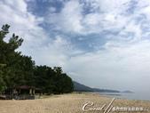 在水一方--初秋記遊之丹後天橋立海上沙洲閒情散策:●白沙一路沿伸,是一幅平靜海邊的美景.JPG