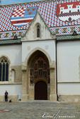 2018不思議之克、斯、義秘境歐遊記(2~1)--克羅埃西亞首都札格雷布Zagreb:32●馬賽克拼貼的屋頂上有著兩個盾牌,左邊代表古代的三個國王,右邊則是札格雷布的市徽.JPG