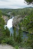2019自駕隨性之旅(06)--100個死前必去景點之黃石國家公園(峽谷、瀑布篇):05●Uncle Tom's point 是上黃石瀑布 Upper Fall的絕佳觀景地,相較於下黃石瀑布 Lower Fall,蜿蜒流經峽谷的上黃石瀑布則呈現