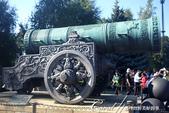 2018印象翻轉的俄羅斯奇幻之旅(2-5)--陰與陽、柔與剛交錯下的莫斯科之心「克里姆林宮」:17●至今從沒有發射過的炮王(沙皇炮),曾用來防衛克里姆林宮大門,它的外壁有著精美的戰士騎馬雕刻.JPG
