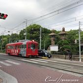 2017初夏14日自由行:●離開住吉大社正是傍晚時分,電車帶來返家的乘客.JPG