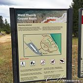 2019自駕隨性之旅(06)--100個死前必去景點之黃石國家公園(黃石湖邊西姆間歇泉盆地篇):02●西姆噴泉盆地 West Thumb Geyser Basin是一個相對景點比較集中的盆地,沿著木棧道;可將所有的溫泉、噴氣孔、泥鍋和間