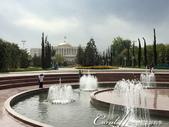 2019Amazing!穿越古絲路上的中亞五國之旅(7-5)--塔吉克斯坦首都杜尚別印象之旅:06●背景金黃色大園頂的建築則是塔吉克斯坦總統的官邸.JPG