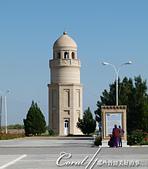 2019Amazing!穿越古絲路上的中亞五國之旅(12-1)--土庫曼斯坦之傳說中的默伏古城:07●約瑟夫·哈馬達尼清真寺Yusuf Hamadani mosque的喚拜塔.JPG