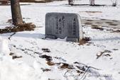 ●2015北海道之旅:●我的雪人一號初體驗在千歲鮭魚故鄉館前的紀念碑前展開.jpg