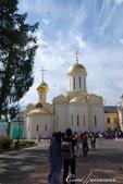 2018印象翻轉的俄羅斯奇幻之旅(6-2)--宛如置身遊樂園的謝爾蓋聖三一修道院:19●1422年至23年間建立的聖三一教堂,是修道院最古老的建築,也是院內第一座石頭建築.JPG